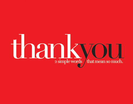 Two Simple Words Thank You Cards