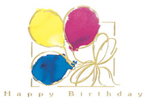 Tied Balloons Birthday Greeting Cards